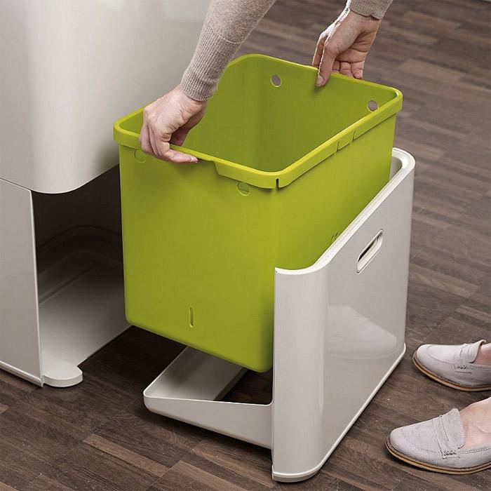 Контейнер для сортировки мусора Joseph Joseph totem, 50 л, 40х30х65,6 см, белый Joseph Joseph 30003 фото 10