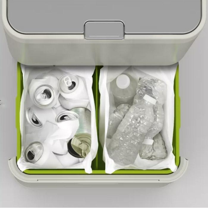 Контейнер для сортировки мусора Joseph Joseph totem, 50 л, 40х30х65,6 см, белый Joseph Joseph 30003 фото 2