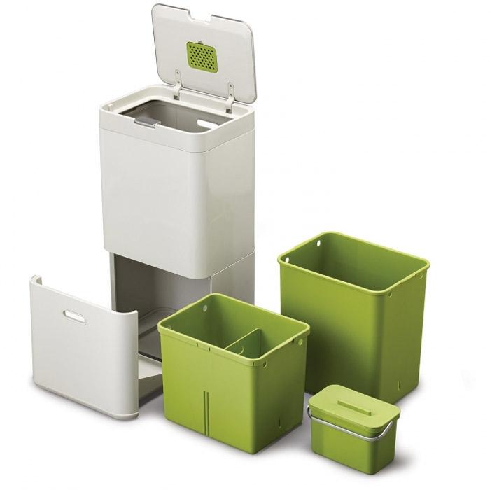 Контейнер для сортировки мусора Joseph Joseph totem, 50 л, 40х30х65,6 см, белый Joseph Joseph 30003 фото 4
