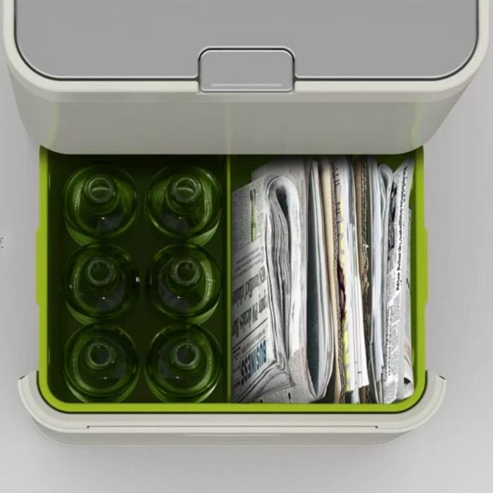 Контейнер для сортировки мусора Joseph Joseph totem, 50 л, 40х30х65,6 см, белый Joseph Joseph 30003 фото 3