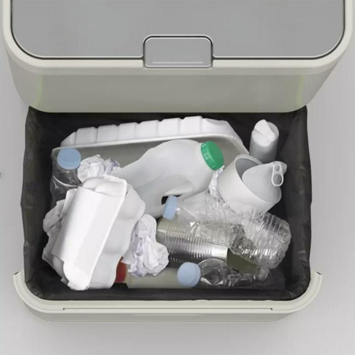 Контейнер для сортировки мусора Joseph Joseph totem, 50 л, 40х30х65,6 см, серый Joseph Joseph 30004 фото 6