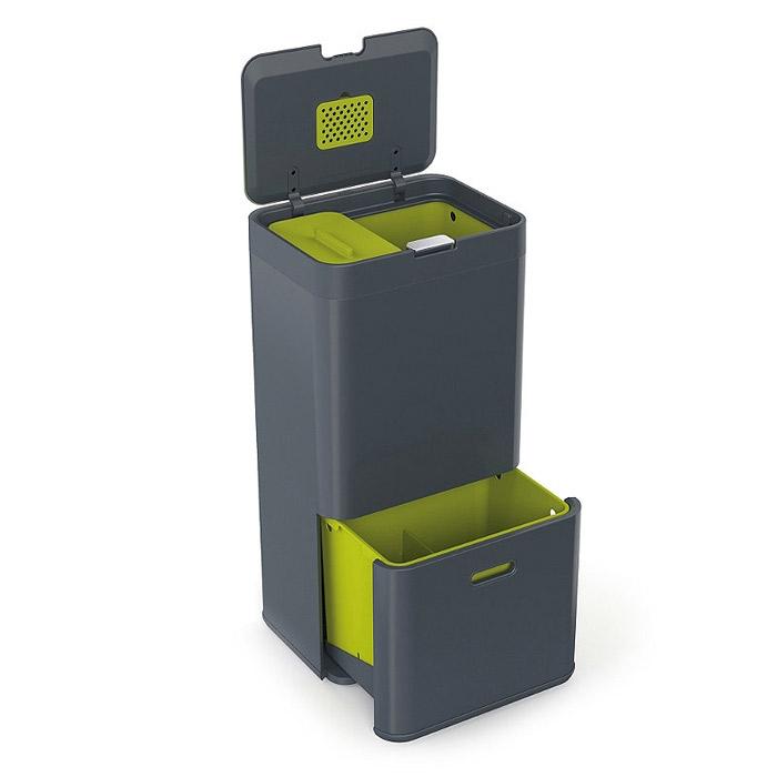 Онлайн каталог PROMENU: Контейнер для сортировки мусора Joseph Joseph totem, 50 л, 40х30х65,6 см, серый Joseph Joseph 30004