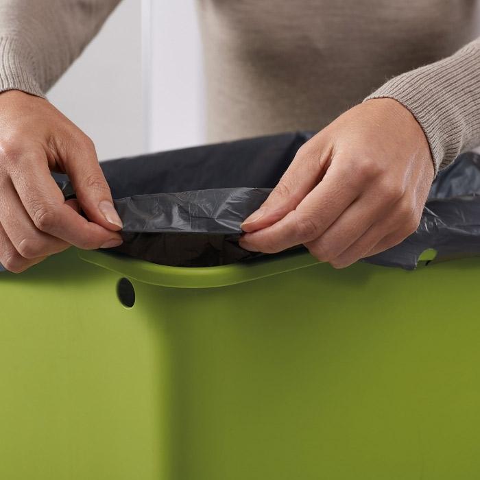 Контейнер для сортировки мусора Joseph Joseph totem, 50 л, 40х30х65,6 см, серый Joseph Joseph 30004 фото 5