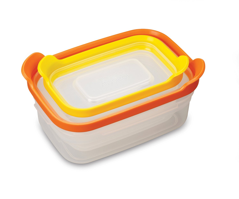 Онлайн каталог PROMENU: Набор контейнеров для хранения продуктов Joseph Joseph nest, прямоугольные, 0,2 и 0,5 л, 2 предмета Joseph Joseph 81012