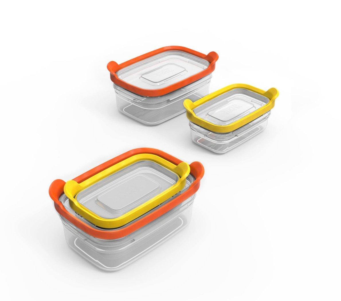 Набор контейнеров для хранения продуктов Joseph Joseph nest, прямоугольные, 0,2 и 0,5 л, 2 предмета Joseph Joseph 81012 фото 4