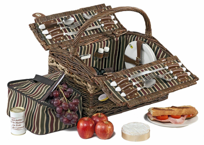 Онлайн каталог PROMENU: Корзина для пикника на 4 персоны Les Jardins de la Comtesse MONTMARTRE, 28х46х26 см, темно-бежевый, 25 предметов                               P-2905
