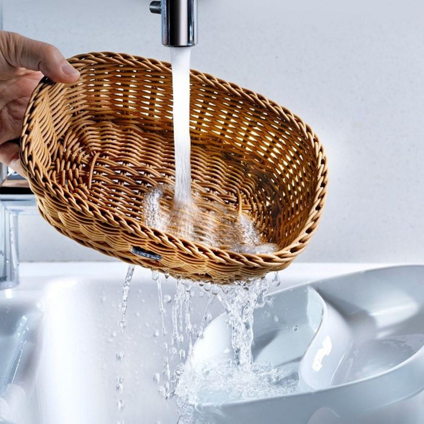 Корзина овальная Saleen, 23,5х18х8 см, белый Saleen 02096110101 фото 3