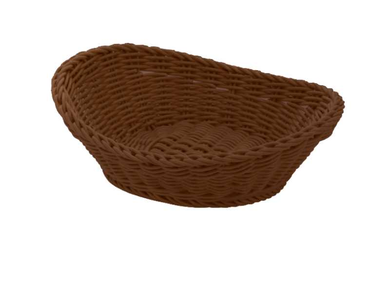 Онлайн каталог PROMENU: Корзина овальная Saleen, 23,5х18х8 см, коричневый Saleen 02096106101