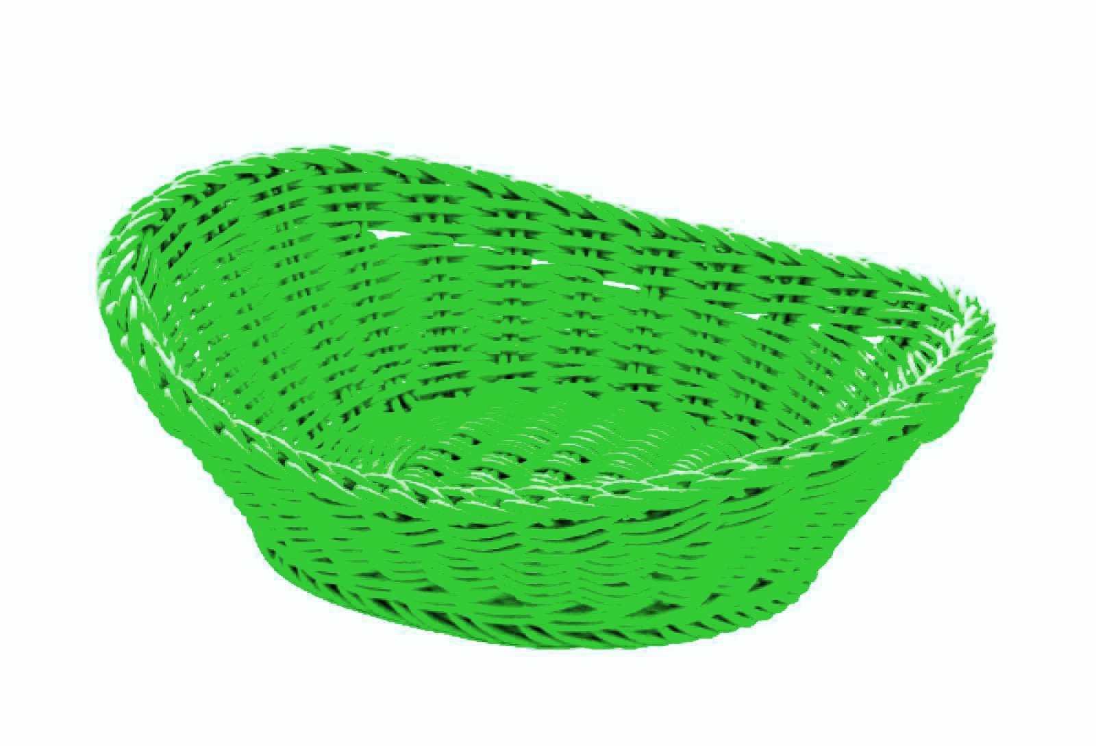 Онлайн каталог PROMENU: Корзина овальная Saleen BASKETS IN TREND COLOURS, 23,5х18х8 см, зеленый Saleen 020961 371