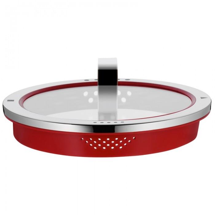 Ковш с крышкой WMF FUNCTION 4, объем 1,4 л, серебристый с красным WMF 07 6316 6380 фото 1