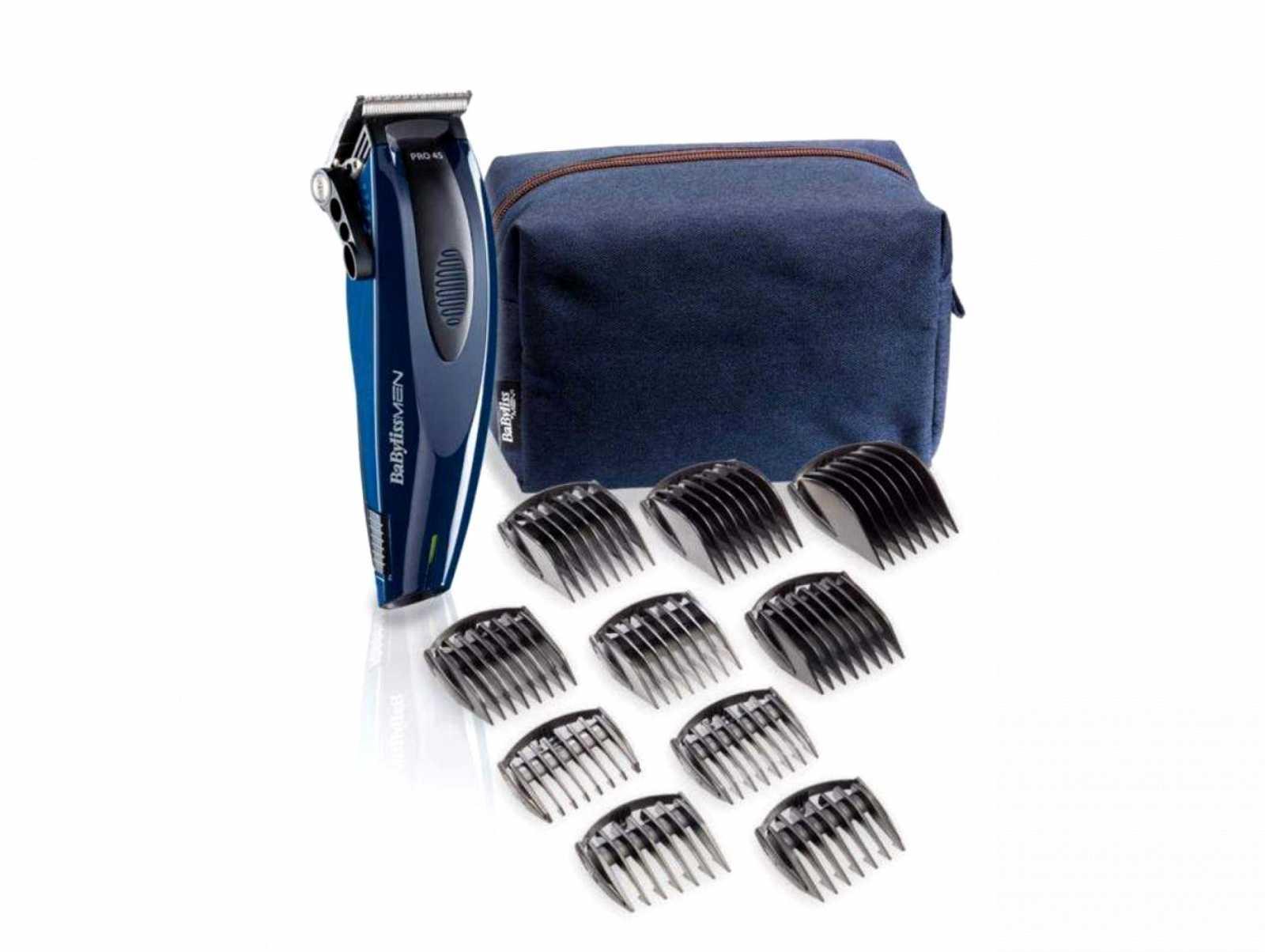 Онлайн каталог PROMENU: Машинка для стрижки волос с насадками BaByliss, синий Babyliss E953PE
