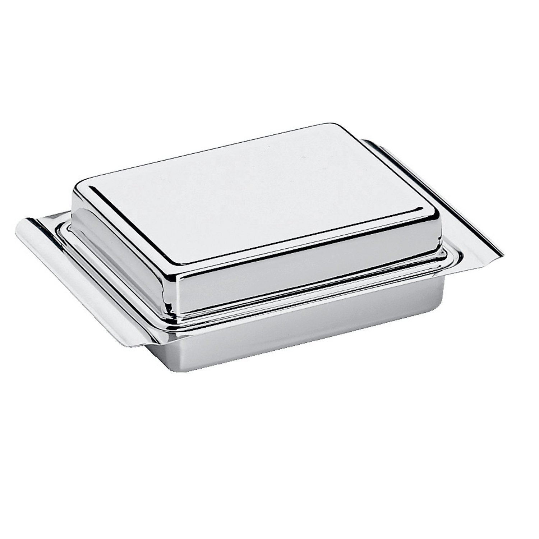 Масленка с крышкой WMF, 15х10,5х4,5 см, серебристый WMF 06 0911 6040 фото 1