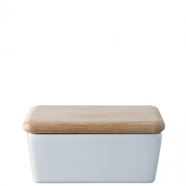 Онлайн каталог PROMENU: Масленка фарфоровая с деревянной крышкой LSA, 14,5х10х6,5 см LSA DI38