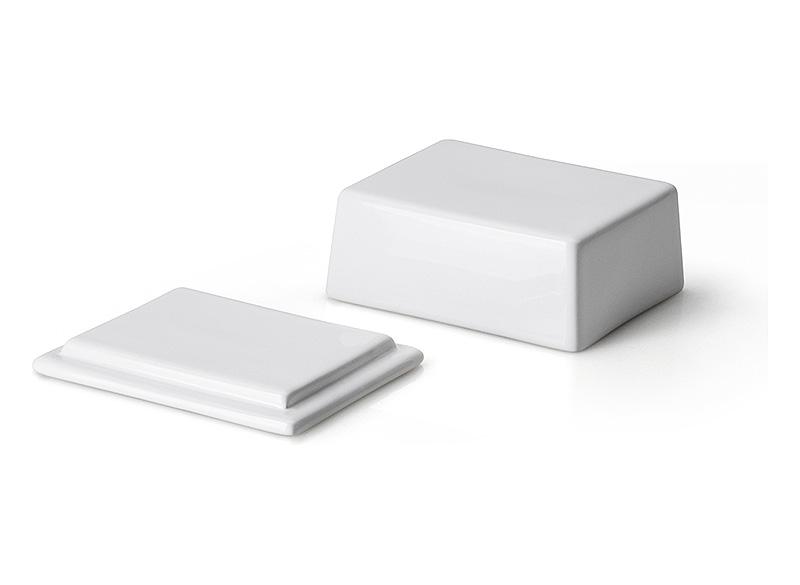 Масленка керамическая с крышкой Continenta, 12х10х6 см Continenta 3926 фото 1