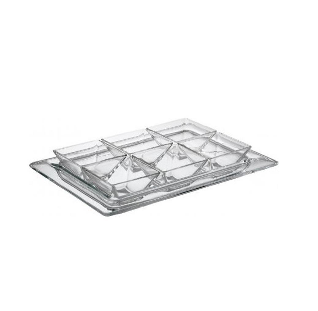 Онлайн каталог PROMENU: Менажница стеклянная Vidivi TORCELLO на 7 предметов, прозрачный Vidivi 67049M