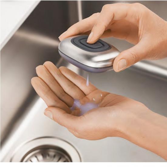 Металлическая емкость для жидкого мыла с подставкой Joseph Joseph SmartBar, 10,8х3,9х9 см, серебристый Joseph Joseph 85085 фото 1