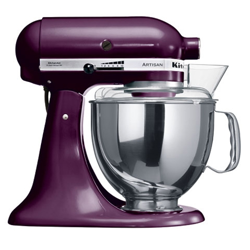 Онлайн каталог PROMENU: Миксер планетарный KitchenAid Artisan, объем чаши 4,83 л, фиолетовый KitchenAid 5KSM150PSEВY