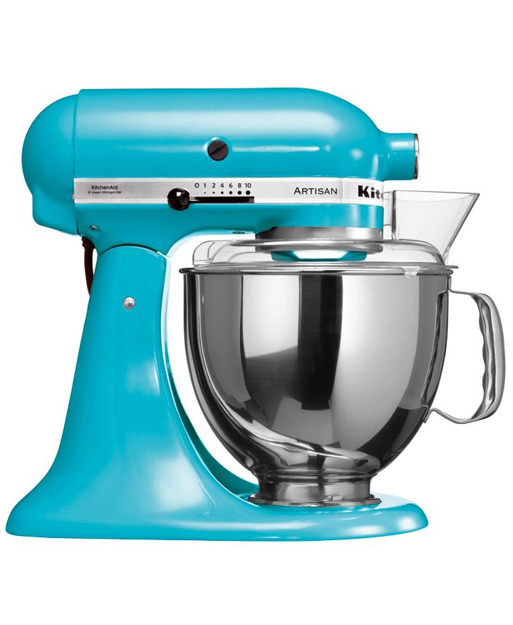 Онлайн каталог PROMENU: Миксер планетарный KitchenAid Artisan, объем чаши 4,83 л, голубой кристалл KitchenAid 5KSM150PSECL