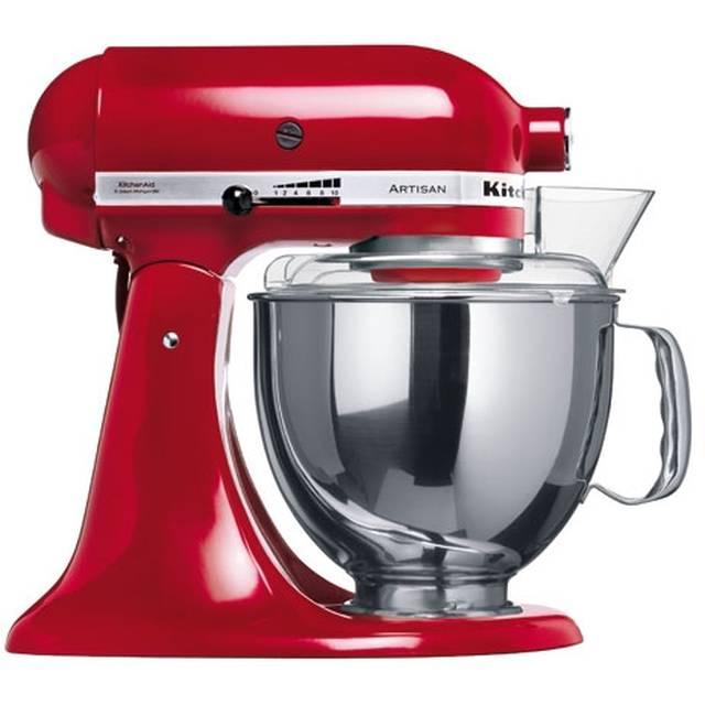 Онлайн каталог PROMENU: Миксер планетарный KitchenAid Artisan, объем чаши 4,83 л, красная империя KitchenAid 5KSM150PSEER
