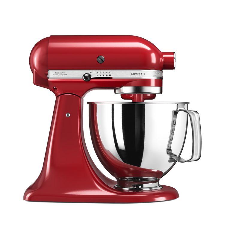 Онлайн каталог PROMENU: Миксер планетарный KitchenAid Artisan, объем чаши 4,83 л, красный                               5KSM125PSEER