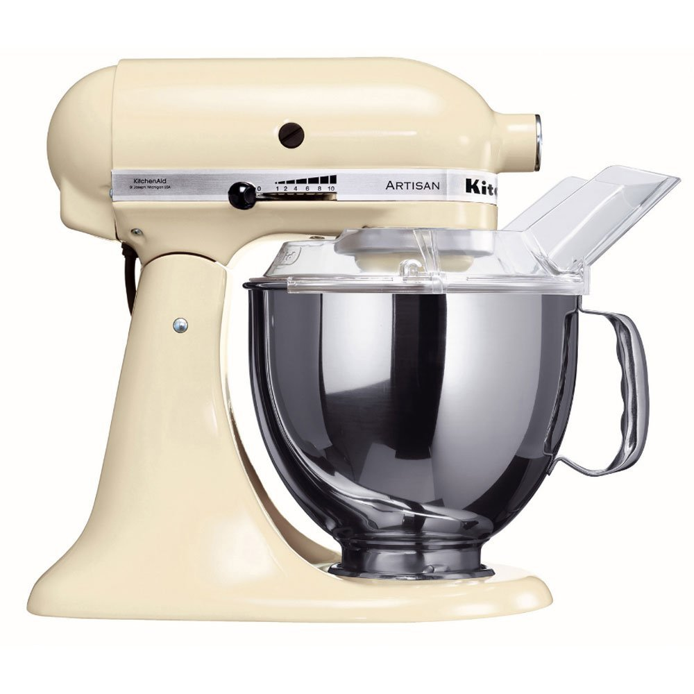 Онлайн каталог PROMENU: Миксер планетарный KitchenAid Artisan, объем чаши 4,83 л, кремовый KitchenAid 5KSM150PSEAC