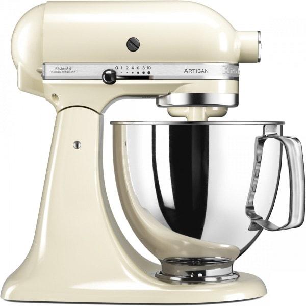Онлайн каталог PROMENU: Миксер планетарный KitchenAid Artisan, объем чаши 4,83 л, кремовый                  KitchenAid 5KSM125PSEAC