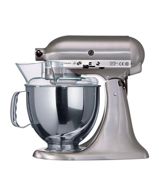 Миксер планетарный KitchenAid Artisan, объем чаши 4,83 л, матовый никель KitchenAid 5KSM150PSENK фото 1
