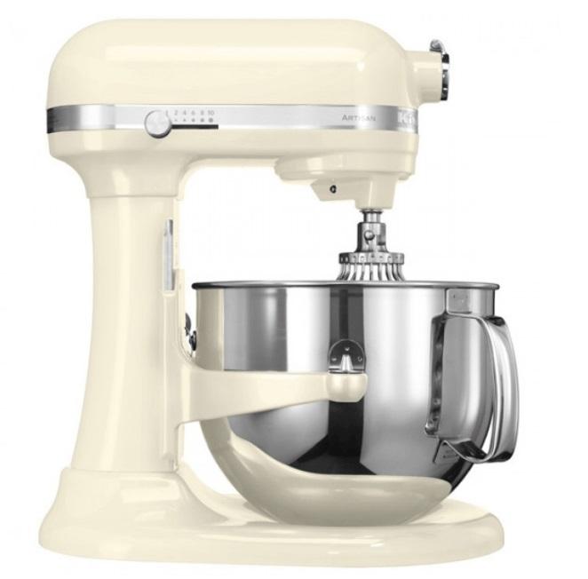 Онлайн каталог PROMENU: Миксер планетарный KitchenAid Artisan, объем чаши 6,9 л, кремовый KitchenAid 5KSM7580XEAC
