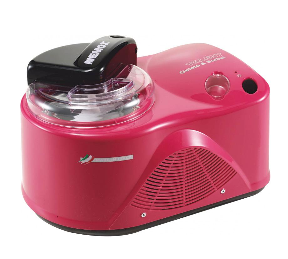 Онлайн каталог PROMENU: Мороженица автоматическая Nemox Talent Gelato & Sorbet, 26,5х33,5х24,5 см, розовый Nemox 0036500470