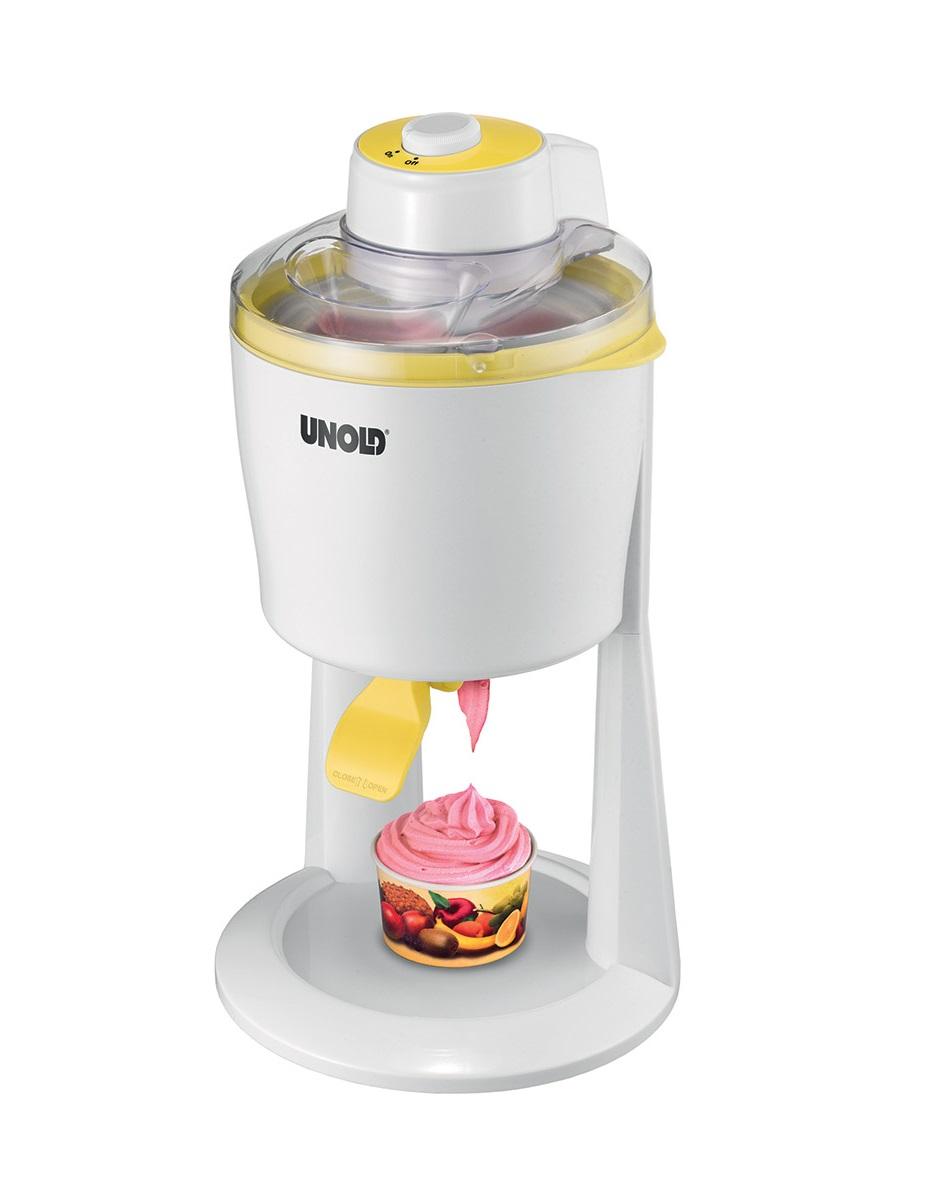 Онлайн каталог PROMENU: Мороженица электрическая Unold, мощность 18 Вт, объем 1,2 литра, белый Unold 48860