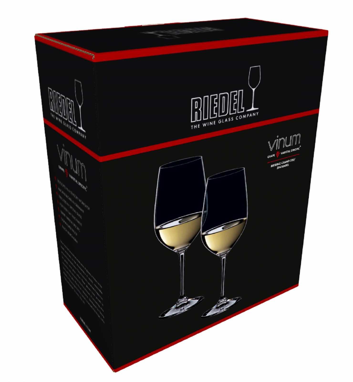 Набор бокалов для вина_Zinfandel/Riesling Riedel Vinum, объем 0,4 л, прозрачный, 2 штуки Riedel 6416/15 фото 4