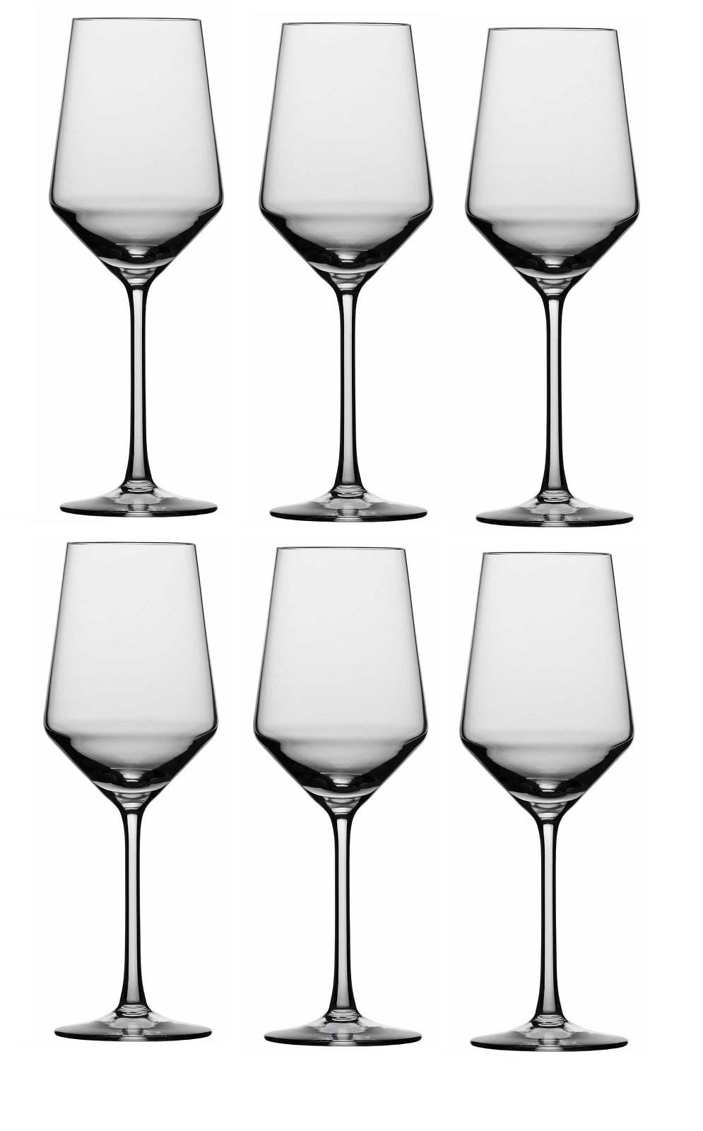 Набор бокалов для белого вина Schott Zwiesel PURE, объем 0,408 л, прозрачный, 6 штук Schott Zwiesel 112412_6шт фото 0