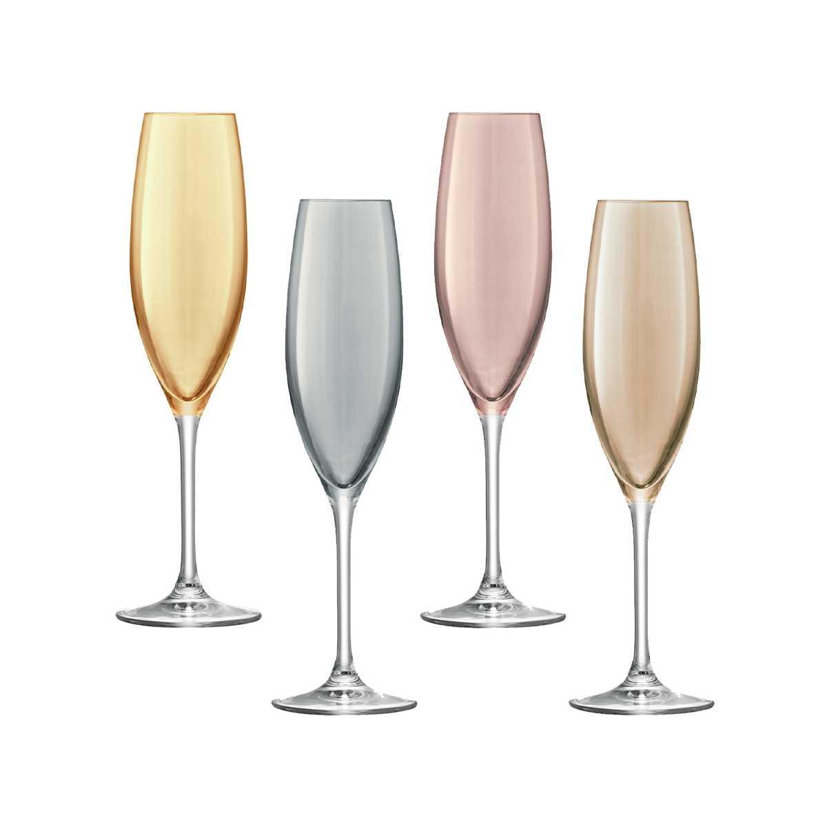 Онлайн каталог PROMENU: Набор бокалов для шампанского 0,225, 4 шт LSA Polka  (G978-09-960) LSA G978-09-960