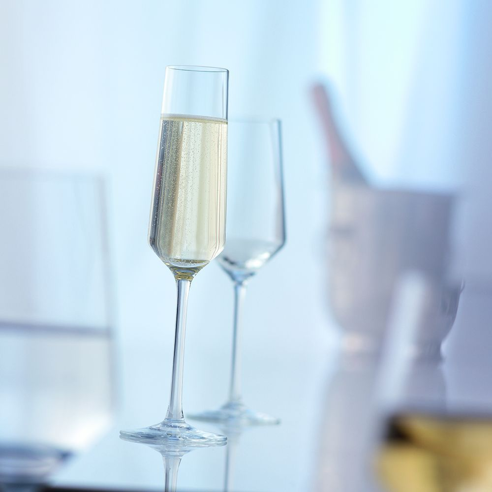 Набор бокалов для шампанского Schott Zwiesel PURE, прозрачный, 2 штуки Schott Zwiesel 112941_PROMO фото 3