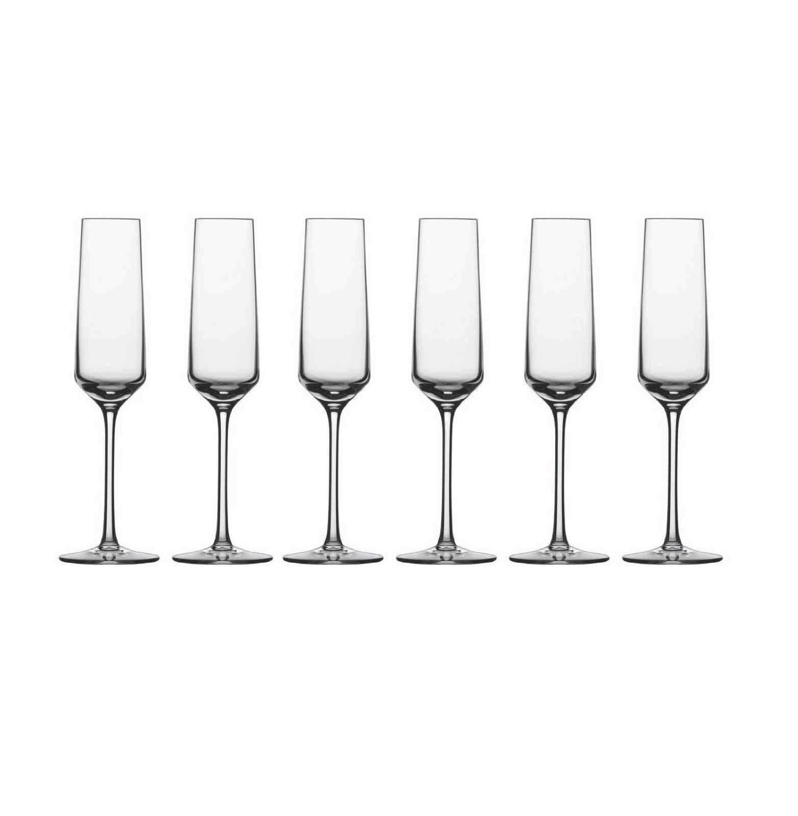 Онлайн каталог PROMENU: Набор бокалов для шампанского Schott Zwiesel PURE, объем 0,209 л, прозрачный, 6 штук Schott Zwiesel 112415_6шт