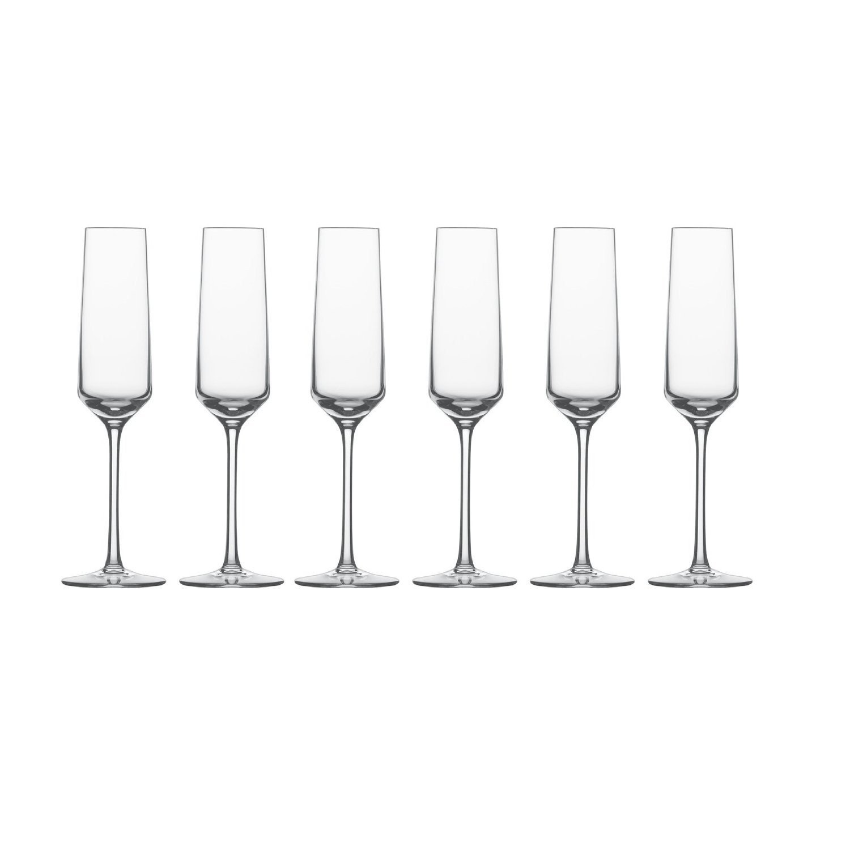 Набор бокалов для шампанского Schott Zwiesel PURE, объем 0,209 л, прозрачный, 6 штук Schott Zwiesel 112415_6шт фото 2