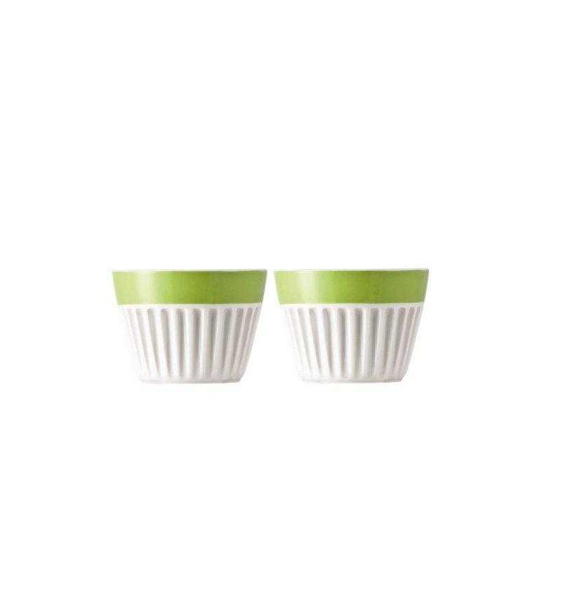 Онлайн каталог PROMENU: Набор чашек для капучино Rosenthal SUNNY DAY, зеленый, 2 штуки Rosenthal 10850-408527-28391