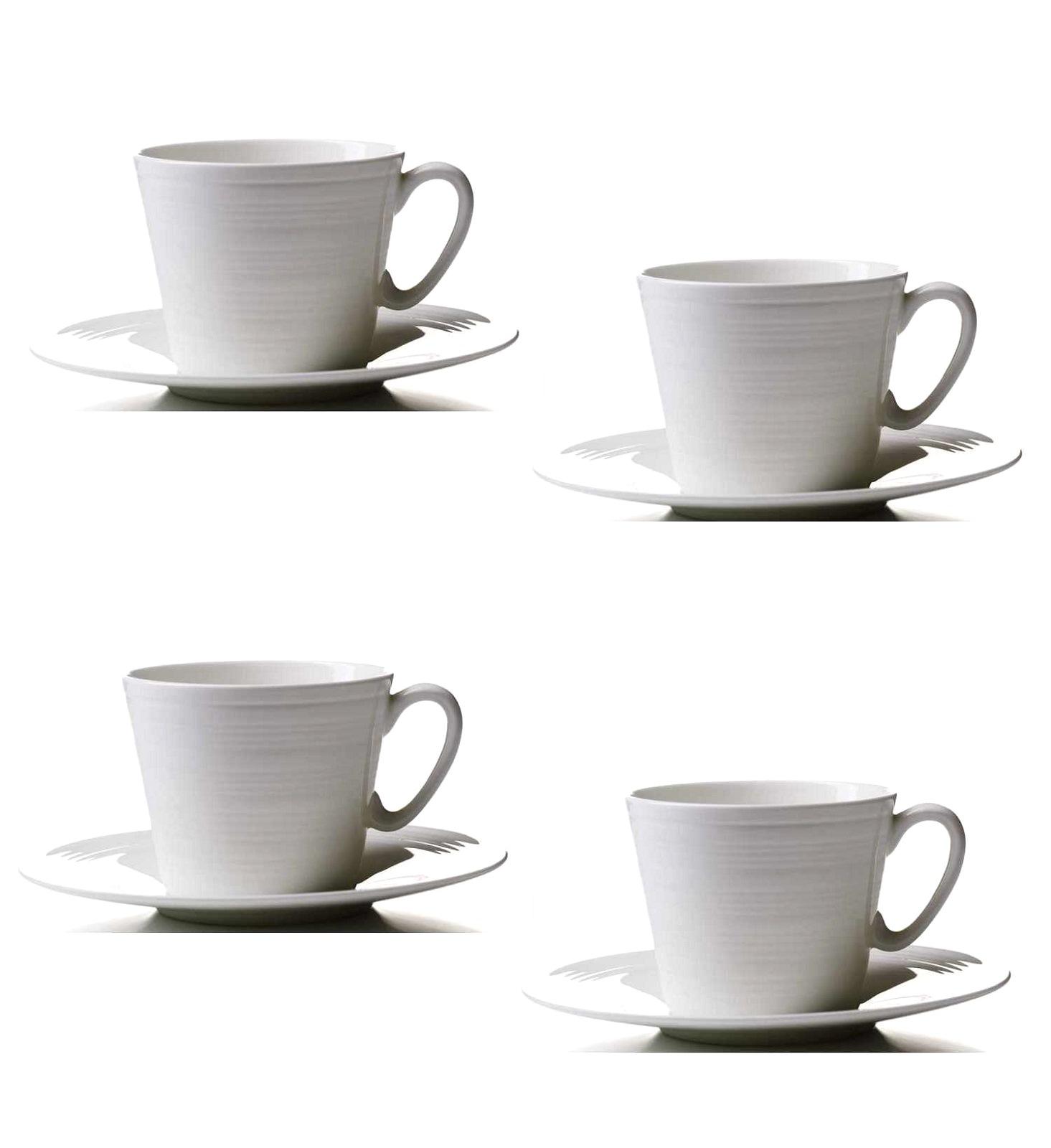 Набор: чашка с блюдцем Aida Passion, объем 0,3 л, белый, 4 комплекта Aida 19280 фото 0