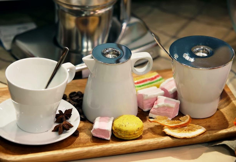 Набор: чашка с блюдцем и ложкой WMF BARISTA, белый, 3 предмета WMF 06 8621 6040 фото 3