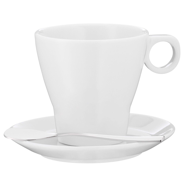 Онлайн каталог PROMENU: Набор: чашка с блюдцем и ложкой WMF BARISTA, белый, 3 предмета WMF 06 8621 6040