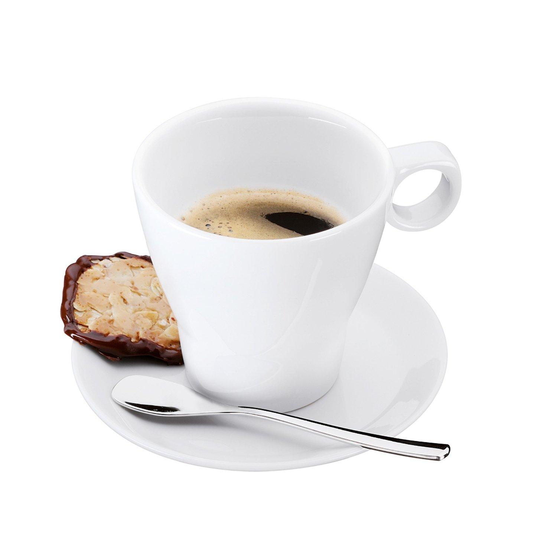 Набор: чашка с блюдцем и ложкой WMF BARISTA, белый, 3 предмета WMF 06 8621 6040 фото 1