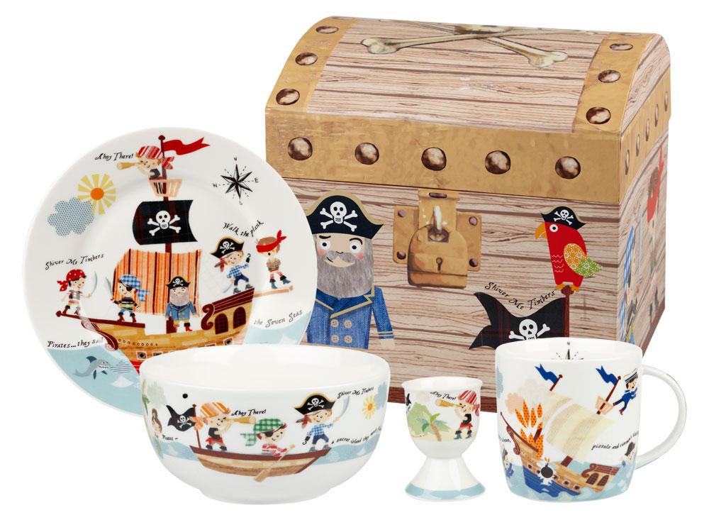 "Онлайн каталог PROMENU: Набор детский в подарочной упаковке ""Пираты"" Churchill LITTLE RHYMES, 4 предмета Churchill PIRA00011"