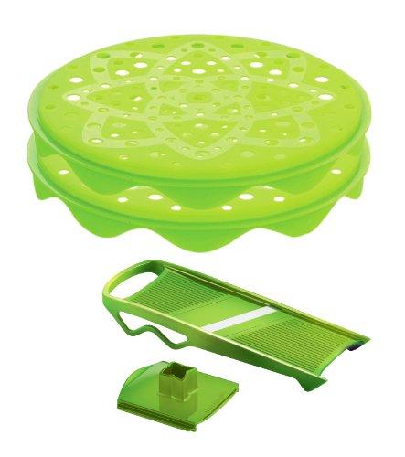 Онлайн каталог PROMENU: Набор для приготовления чипсов Mastrad, зеленый, 4 предмета Mastrad F64708