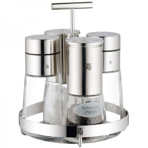 Набор для специй WMF DE LUXE, прозрачный с серебристым, 5 предметов WMF 06 6786 6030 фото 0