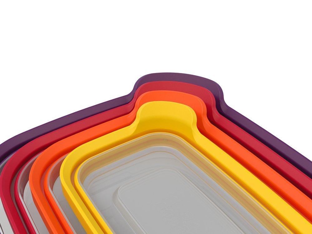 Набор прямоугольных емкостей для продуктов Joseph Joseph Nest Storage, 1,85 л, 1,1 л, 0,54 л, 0, 23 л, 4 предмета Joseph Joseph 81006 фото 3