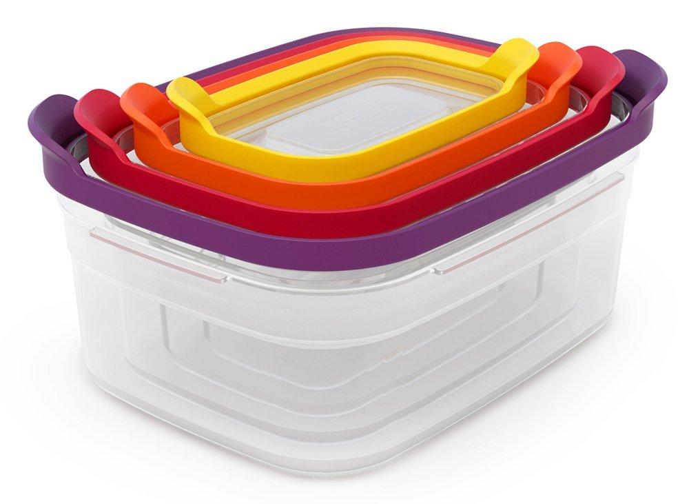 Онлайн каталог PROMENU: Набор прямоугольных емкостей для продуктов Joseph Joseph Nest Storage, 1,85 л, 1,1 л, 0,54 л, 0, 23 л, 4 предмета Joseph Joseph 81006