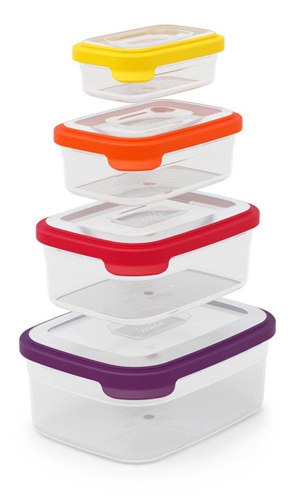 Набор прямоугольных емкостей для продуктов Joseph Joseph Nest Storage, 1,85 л, 1,1 л, 0,54 л, 0, 23 л, 4 предмета Joseph Joseph 81006 фото 1
