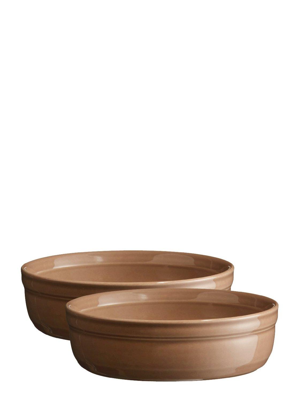 Онлайн каталог PROMENU: Набор форм для крем-брюле Emile Henry, 13 см, коричневый, 2 штуки Emile Henry 964013