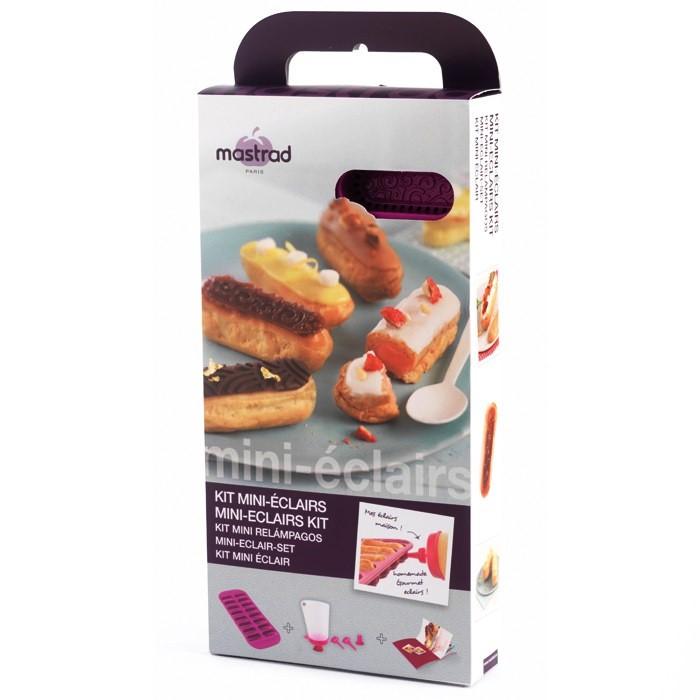 Онлайн каталог PROMENU: Набор форм для мини эклеров на 16 порций Mastrad, фиолетовый, 5 предметов Mastrad F40760