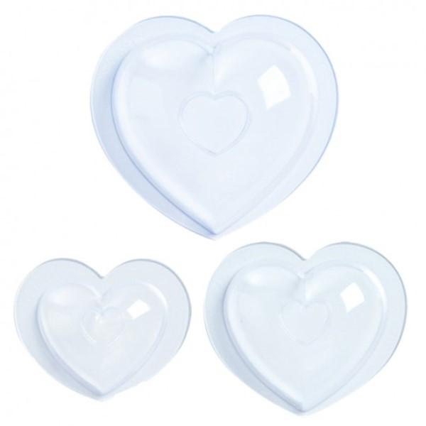 "Онлайн каталог PROMENU: Набор форм для шоколада ""сердце"" Mastrad, прозрачный, 3 предмета                               F48262"